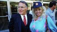 "Richard ""Racehorse"" Haynes and Morganna Roberts, April 17, 1985."