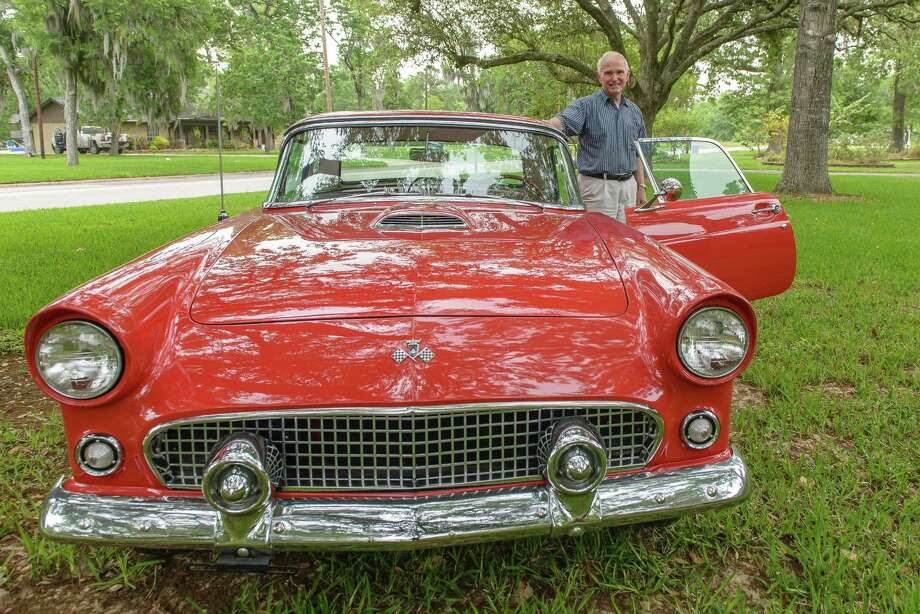 Friendswood car enthusiast Harold Benson is counting on his rebuilt 1955 Ford T-bird to catch some eyes at the 11th annual Friendswood Auto and Bike Show. Photo: ÂKim Christensen, Photographer / ©Kim Christensen