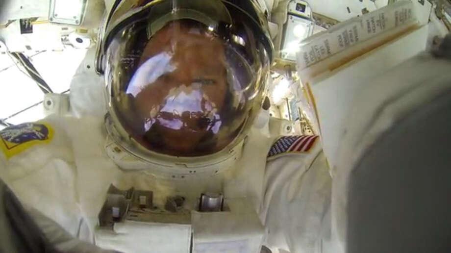 Astronaut takes GoPro on spacewalk - Houston Chronicle