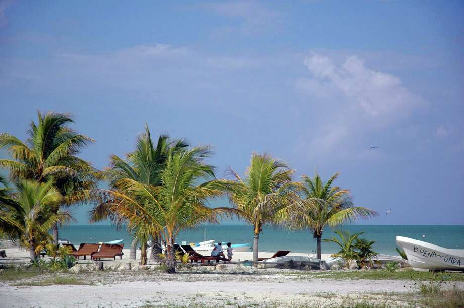 A beach view of the Gulf of Mexico from the east end of town on Isla Holbox.