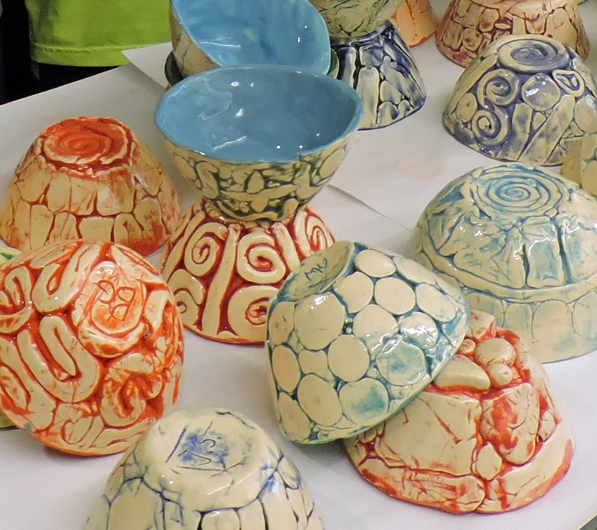 Students craft bowls for neighbor to neighbor fundraiser for Craft store norwalk ct