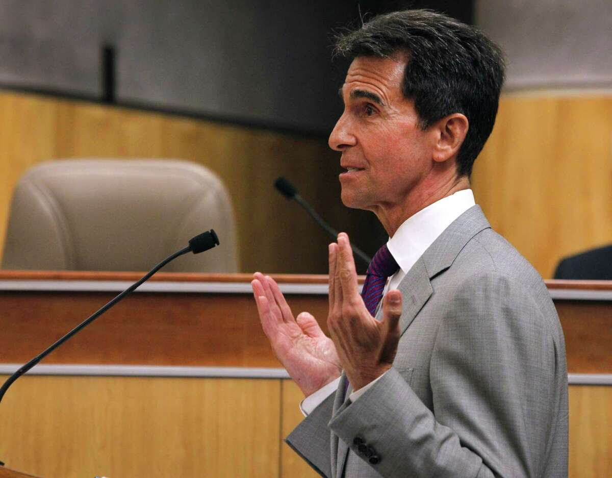 State Sen. Mark Leno introduces SB 364, which would reform the Ellis Act within the city of San Francisco, to a Senate Committee hearing at the State Capitol in Sacramento, Calif. on Tuesday, April 14, 2015. Leno authored SB 364.