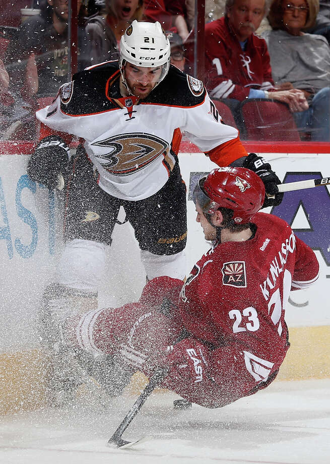Kyle Palmieri and the Ducks flattened opponents this season but could be pushed by the Jets. Photo: Christian Petersen / Getty Images / 2015 Getty Images