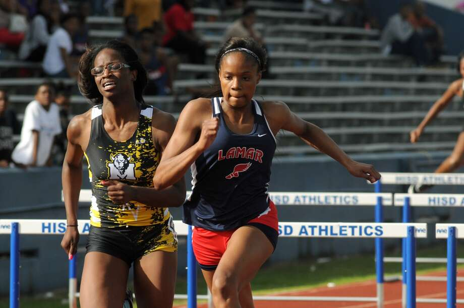 Lamar's Milan Young is a threat to medal at state in the 100-meter hurdles after finishing eighth in Austin last  year. Photo: Jerry Baker, Freelance