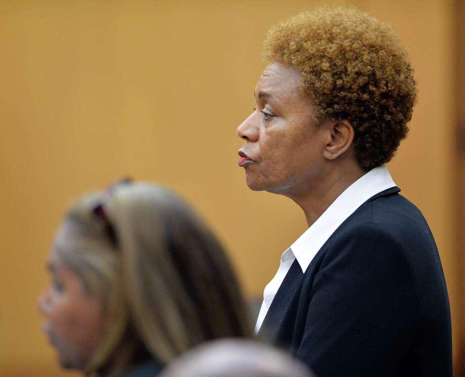 Sharon Davis-Williams, a former Atlanta public school regional director, was sentenced to 20 years, seven to be spent in prison. Photo: Kent D. Johnson /Associated Press / POOL Atlanta Journal-Constitutio