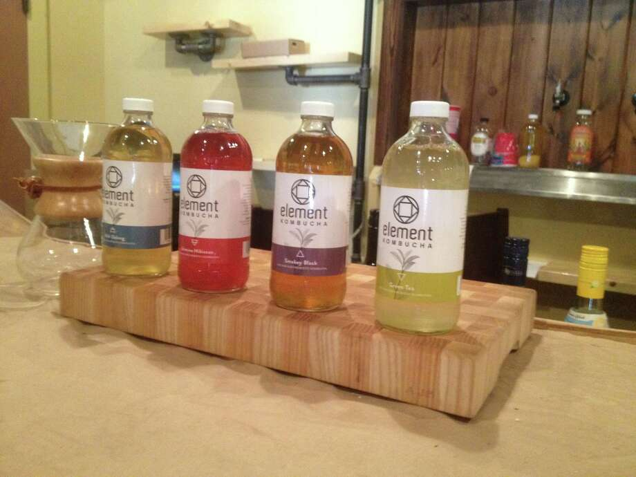 A lineup of kombucha flavors from San Antonio-based Element Kombucha. Photo: Valentino Lucio/San Antonio Express-News