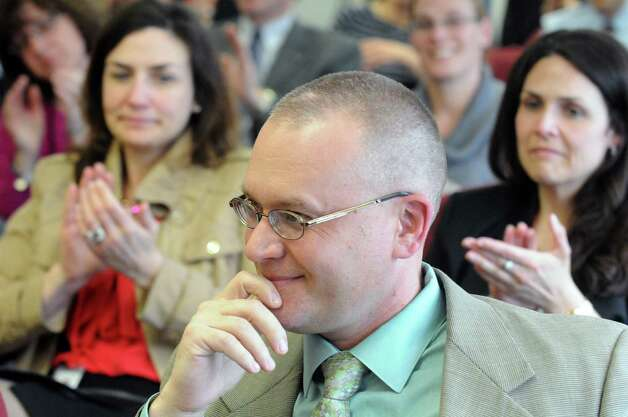 Cosimo Tangorra Jr. was announced as the next superintendent in the Niskayuna school district on Tuesday April 14, 2015 in Niskayuna, N.Y. (Michael P. Farrell/Times Union) Photo: Michael P. Farrell / 00031430A