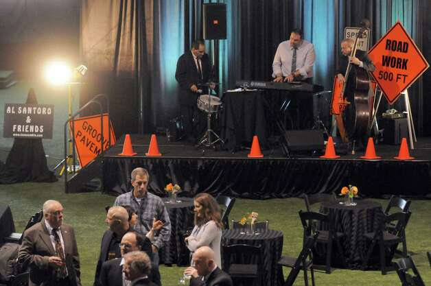 Al Santoro & Friends perform during the Work Zone Schenectady The Chamber of Schenectady County's annual meeting at the Legere Armory on Tuesday April 14, 2015 in Schenectady, N.Y. (Michael P. Farrell/Times Union) Photo: Michael P. Farrell / 00031423A