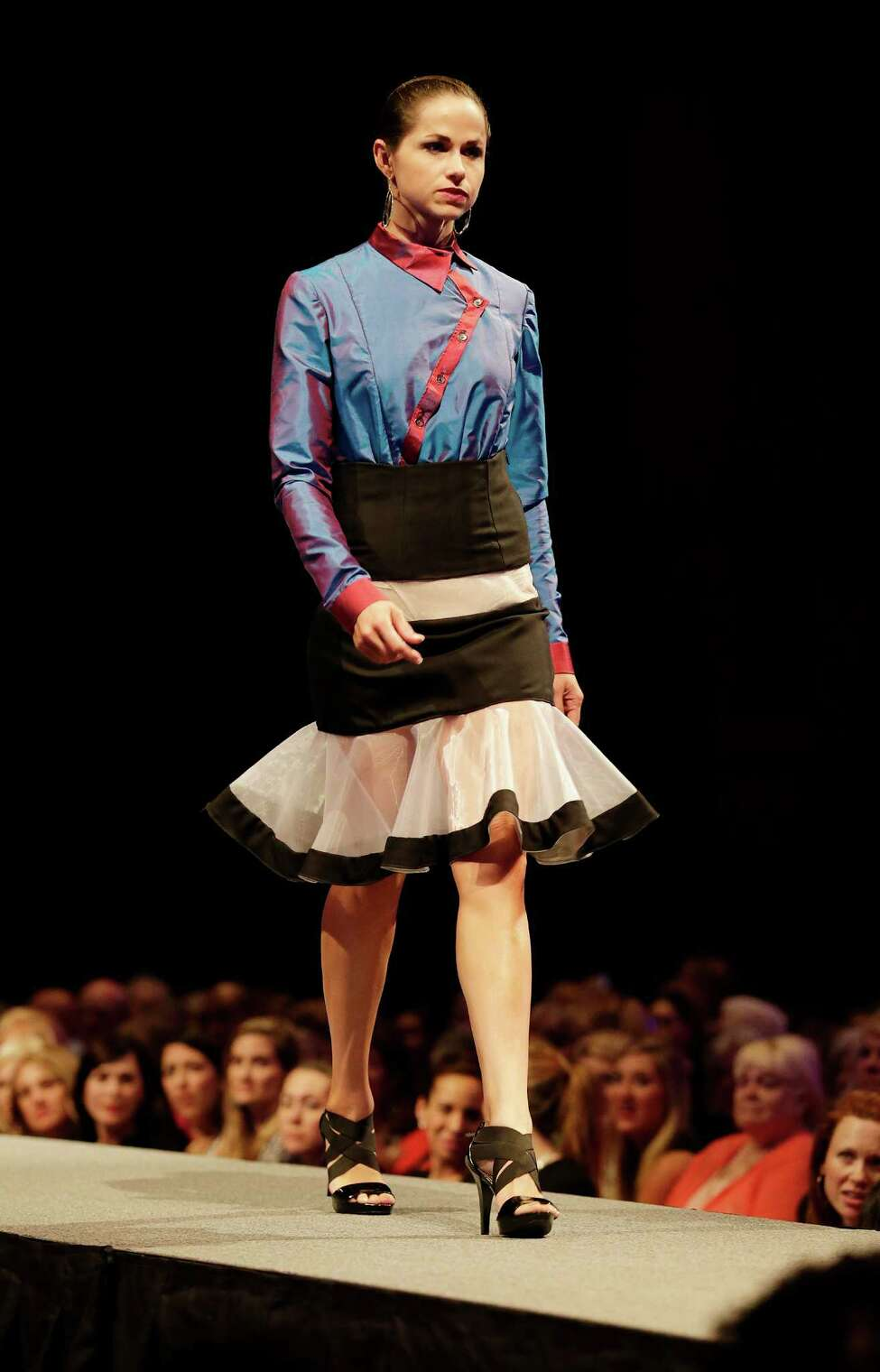 Clothing designs by University of the Incarnate Word student Kimberly Howard at the 2015 Cutting Edge Fiesta Fashion Show at the Tobin Center on Tuesday, Apr. 14, 2015.
