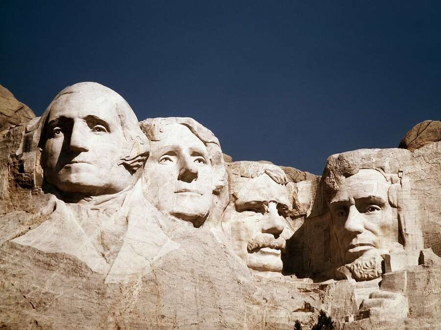 "The Lakota name for what became Mount Rushmore was ""Six Grandfathers."" Having the faces of U.S. Presidents carved into a mountain of particular sacred importance was not received well by Native Americans.PBS writes: ""In 1927, with a history of turmoil as a background, a white man living in Connecticut came into the Black Hills and dynamited and drilled the faces of four white men onto Mount Rushmore. At the outset of the project, Gutzon Borglum had persuaded South Dakota state historian Doane Robinson the presidents would give the work national significance, rejecting Robinson's initial suggestion that the sculpture honor the West's greatest heroes, both Native Americans and pioneers."" Photo: Associated Press"