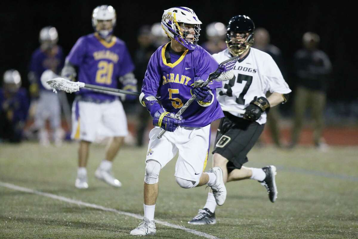 Connor Fields in action against Bryant on Tuesday, April 14. ( Dan Leahy / Special to the Times Union )