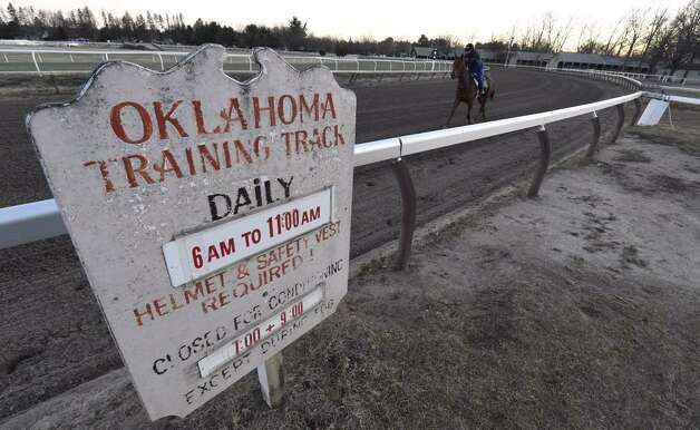 The Oklahoma Training track is open for the season at Saratoga Race Course on Wednesday, April 15, 2015.  (Skip Dickstein/Times Union)