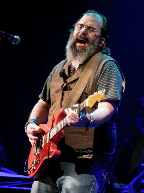 """FRIDAY: Steve Earle, shown at last month's Doug Sahm tribute at the Paramount Theatre during SXSW, is best known as a troubadour unafraid to speak, or sing, his mind. But he's singing and playing the blues these days with his band, the Dukes, in support of his new album """"Terraplane."""" The Mastersons will open. 8 p.m. Friday, Gruene Hall, 1281 Gruene Road, New Braunfels. $42.50, gruenehall.com.  — Robert Johnson Photo: Jay Janner /Jay Janner / Austin American-Statesman"""