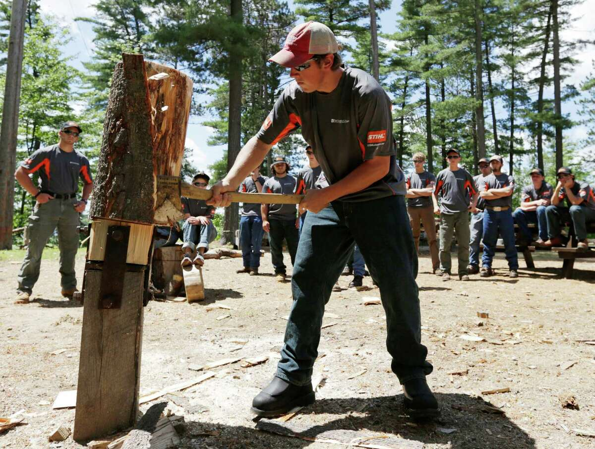 2. Lumberjack Income: $34,100 Description: Fells, cuts, and transports timber to be processed into lumber, paper, and other wood products.  Overall score: 716