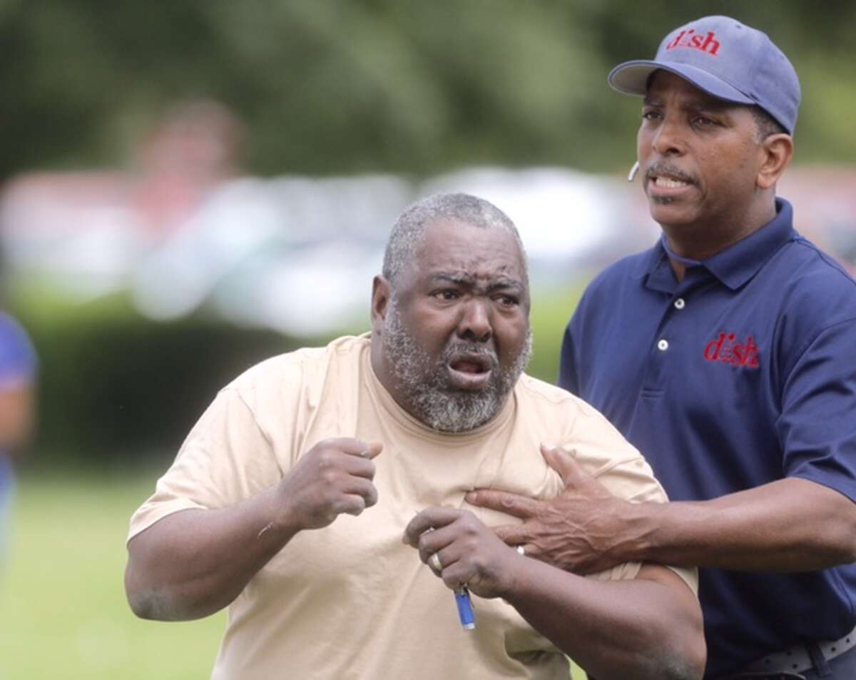 Shephard's stepfather H.B. Runnels is overcome with grief at the news of a family member's fatal shooting by Houston Police following a high speed chase in northeast Houston on Wednesday, April 15, 2015.