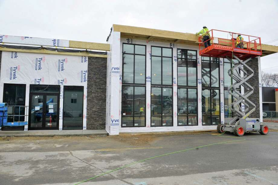 construction work continues on the black blue steak and crab restaurant at 1470 western ave - Blue Restaurant 2015
