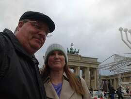 Lee & Denise Whitney of Vallejo at the Brandenburg Gate in Berlin.