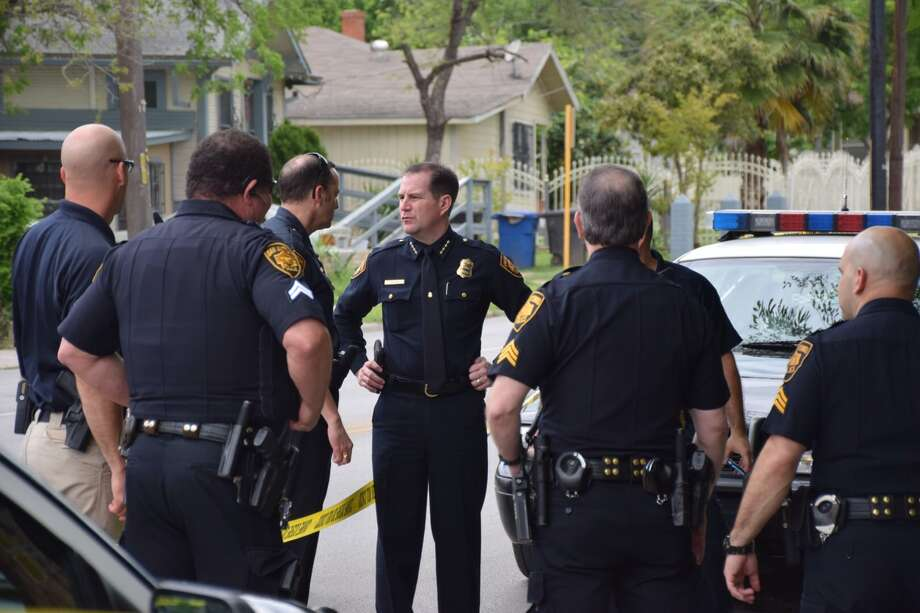 Police are investigating a dead body Wednesday on South Presa Street. Photo: Mark D. Wilson