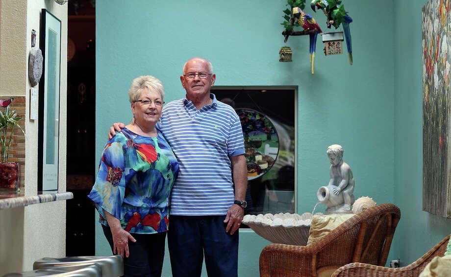 Portrait of Lady Ellen (left) and Gerald Clark Saturday April 4, 2015 at their home. Photo: Edward A. Ornelas,  Staff / San Antonio Express-News / © 2015 San Antonio Express-News