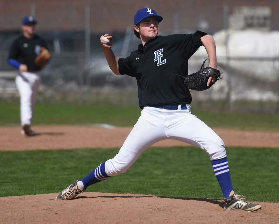 Fairfield Ludlowe's Dan Stanco pitches in Fairfield Ludlowe's 4-3 win over Greenwich in the high school baseball game at Greenwich High School in Greenwich, Conn. Wednesday, April 15, 2015. Photo: Tyler Sizemore / Greenwich Time