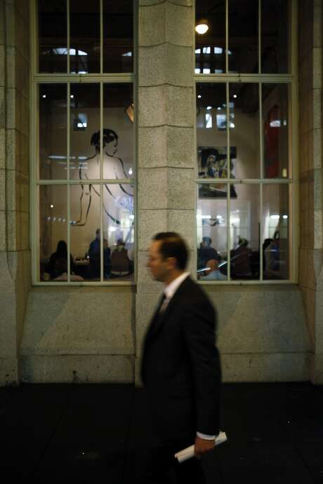 From the outside looking in at Trou Normand in San Francisco, March 17, 2014. Photo: Carlos Avila Gonzalez, The Chronicle