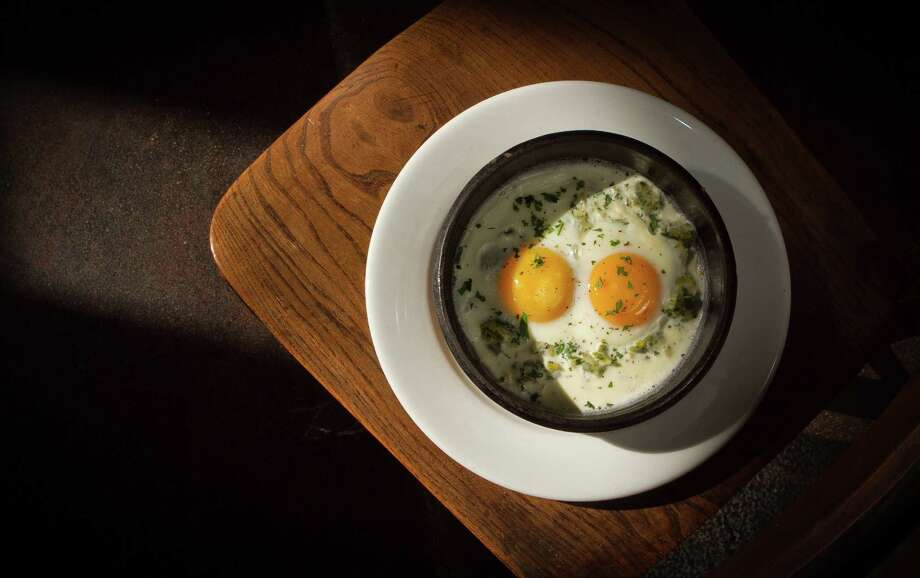 Wood-oven baked eggs for brunch at Camino in Oakland. Photo: John Storey / Special To The Chronicle / SFC