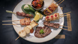 "The ""Tasting of Robata"" at Pabu."