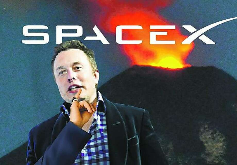 """If this works, I'm treating myself to a volcano lair. It's time."" —CEO Elon Musk after the latest liftoff of a SpaceX vessel. (Photo illustration by Christopher T. Fong / The Chronicle) Photo: Christopher T. Fong, The Chronicle"