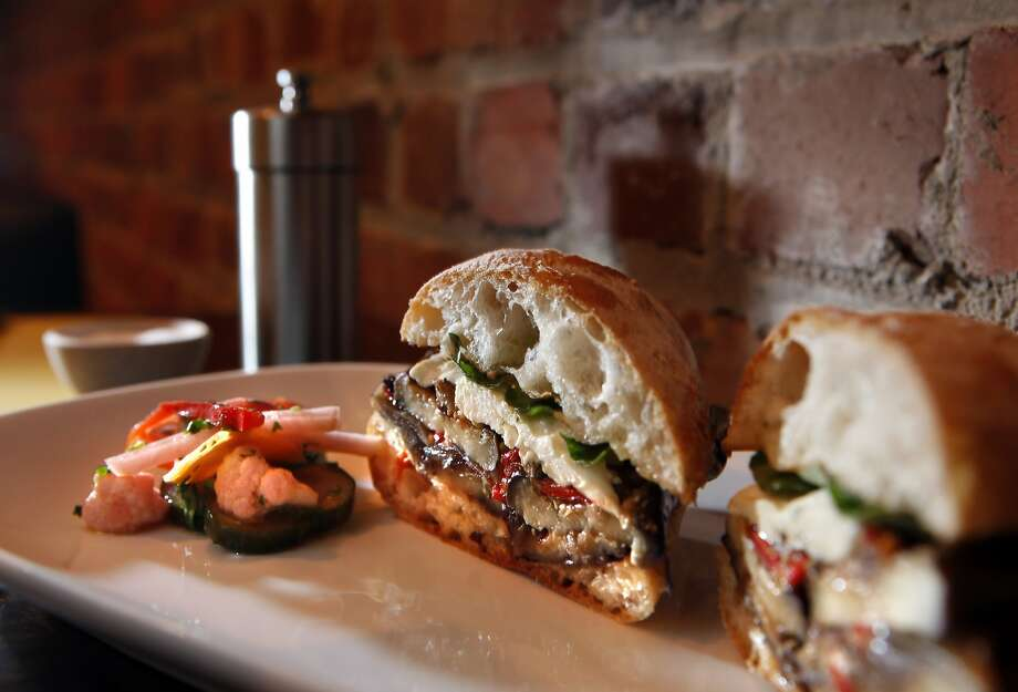 Caponata sandwich, served at Barbacco in San Francisco, Calif., on Monday, March 1, 2010. Barbacco is the little sister of Perbacco on California Street. Photo: Carlos Avila Gonzalez, The Chronicle
