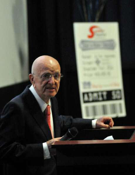 John L. Santikos died Dec. 30 at age 87. The late movie theater owner left the bulk of his estate to the San Antonio Area Foundation. The total value of the estate has not yet been determined.   Photo: Express-News File Photo / Robert Jerstad