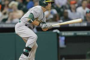A's Sam Fuld sizzles as replacement in leadoff spot - Photo