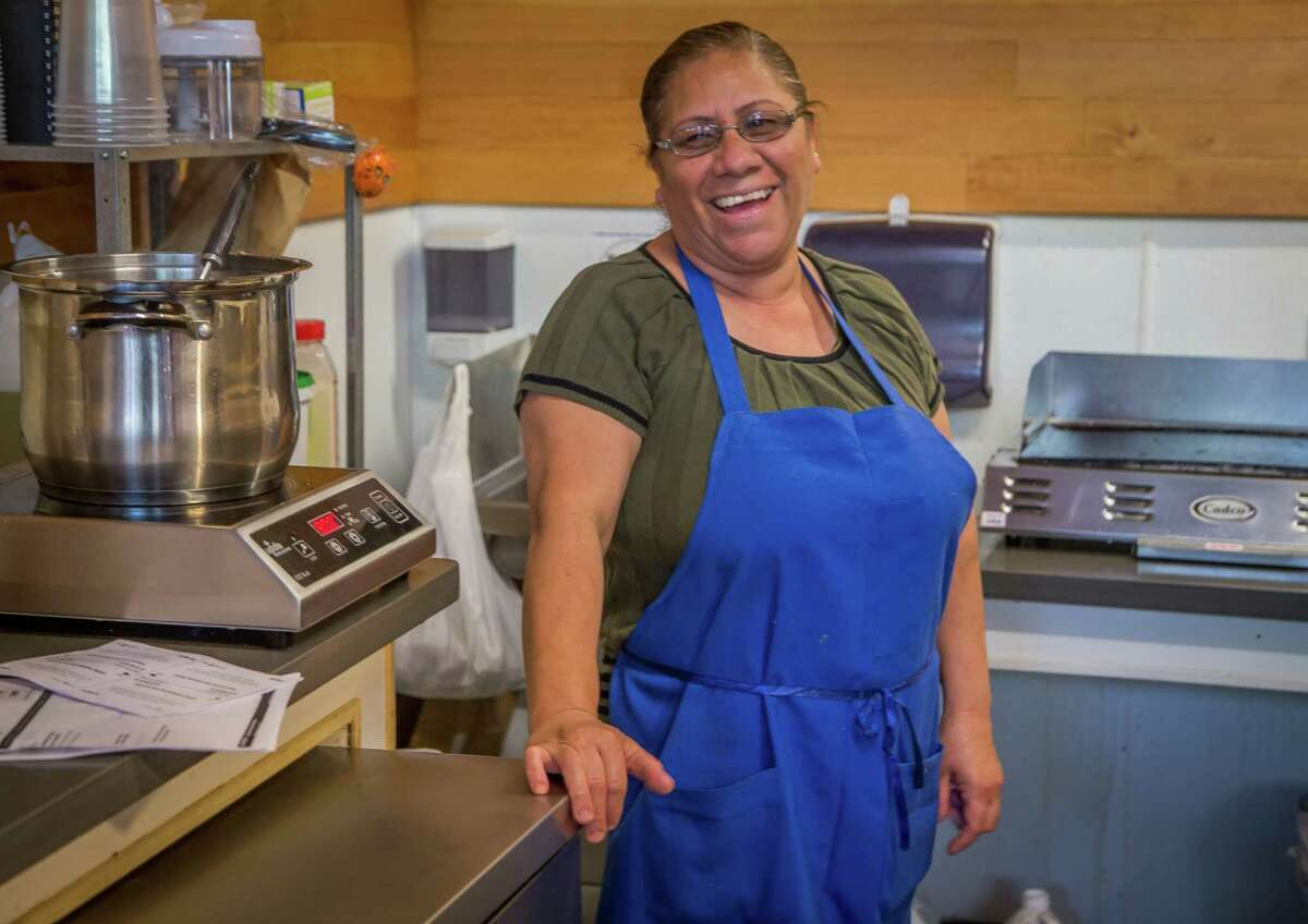 Chef Guadalupe Guerrero at El Pipila at Market Hall on Market Street in S.F.