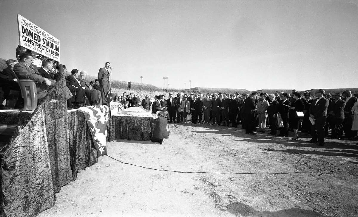 Start of construction on Astrodome, March 27, 1963.