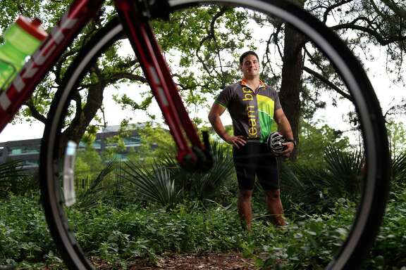 Philip Luongo, 23, is a BP employee who is riding the MS150 because many members of his family have MS.  Photographed on Wednesday, April 15, 2015, in Houston. ( Karen Warren / Houston Chronicle  )