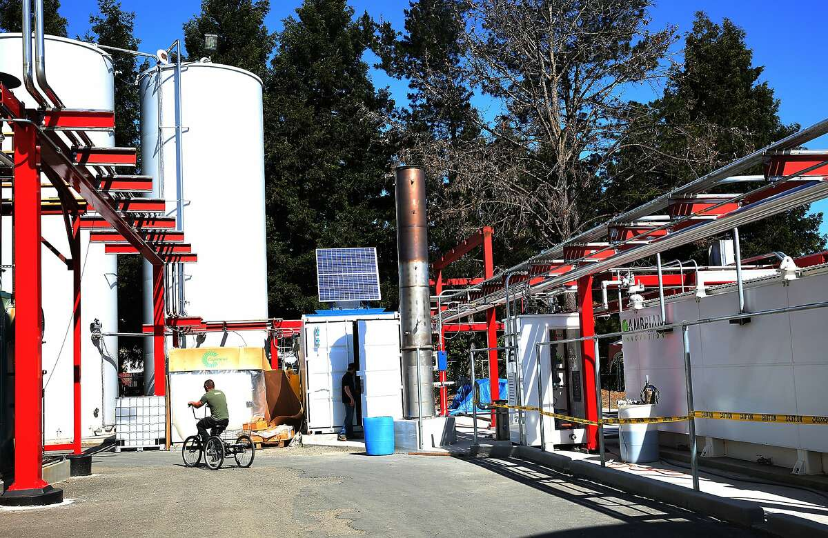 The Lagunitas Brewing Company in Petaluma just installed this new system that will clean up the waste water from its brewing process, and generate electricity in Petaluma, California, on Tuesday, April 14, 2015. It's from a Massachusetts company called Cambrian.