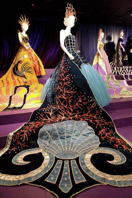 "Rising from the mystic sea was part of the Court of Phantasy in 1962 and is part of the Witte Museum's exhibit ""Jewels of the Court: A Journey Through Fiesta's Coronation"" where 28 Fiesta robes are on display. Photo: Cynthia Esparza / For The San Antonio Express-News / For the San Antonio Express-News"