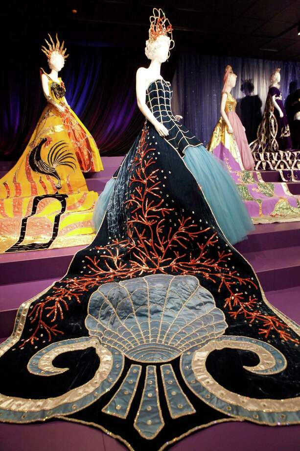 """Rising from the mystic sea was part of the Court of Phantasy in 1962 and is part of the Witte Museum's exhibit """"Jewels of the Court: A Journey Through Fiesta's Coronation"""" where 28 Fiesta robes are on display. Photo: Cynthia Esparza / For The San Antonio Express-News / For the San Antonio Express-News"""