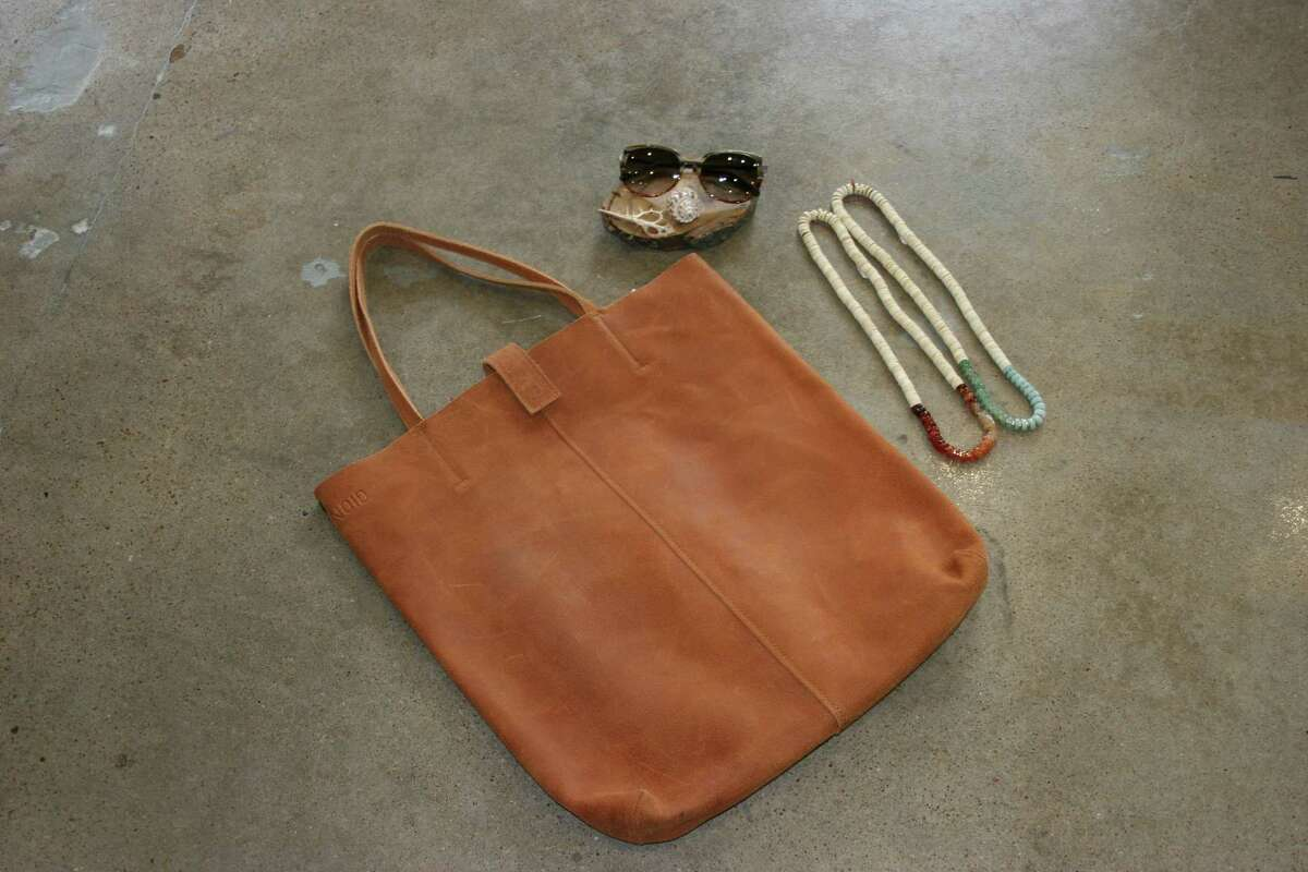 Leather goods from local store Leap will be exhibited at the Lawndale Art Center's Design Fair 2015.