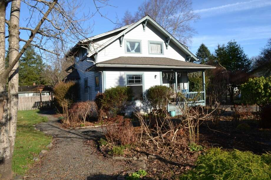 """Although a home in Oregon was used in the film, Bella's """"real"""" home in Forks is located at 775 K. St. The four bedroom, one-and-three-quarters bathroom home is listed for $195,000.   You can see the full listing here. Photo: Courtesy Of Erin Queen"""