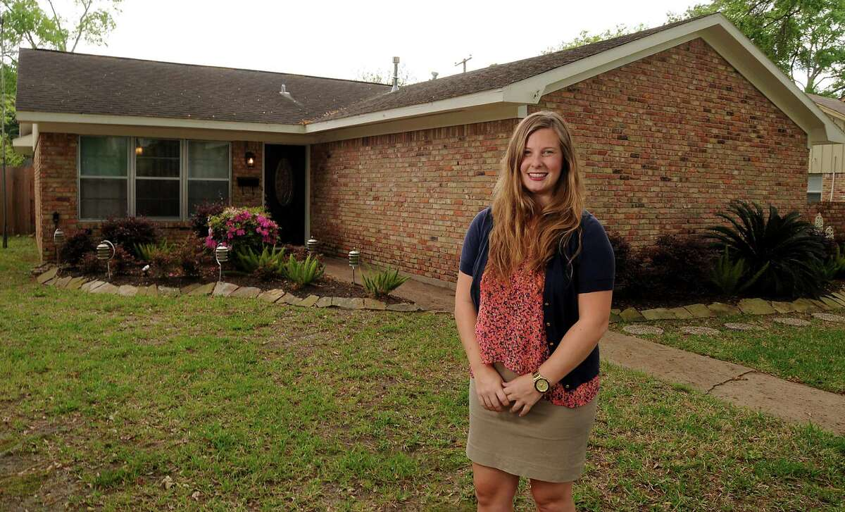 Chelsea McCorvey outside her Spring Branch home Monday April 06, 2015.(Dave Rossman photo)