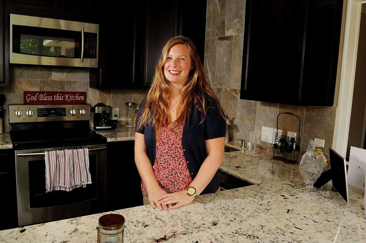 Chelsea McCorvey in the kitchen of her Spring Branch home Monday April 06, 2015.(Dave Rossman photo)
