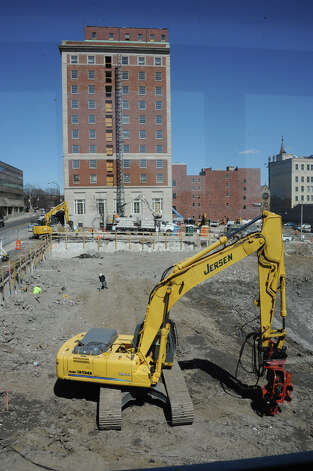 Construction site for the new Capital Center on Wednesday, April 15, 2015 in Albany, N.Y. (Lori Van Buren / Times Union) Photo: Lori Van Buren, Albany Times Union
