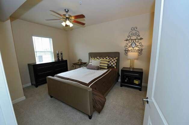 Guest second bedroom in the model apartment of The Alexander at Patroon Creek on Friday, April 10, 2015 in Albany, N.Y.  (Lori Van Buren / Times Union) Photo: Lori Van Buren / 00031373A
