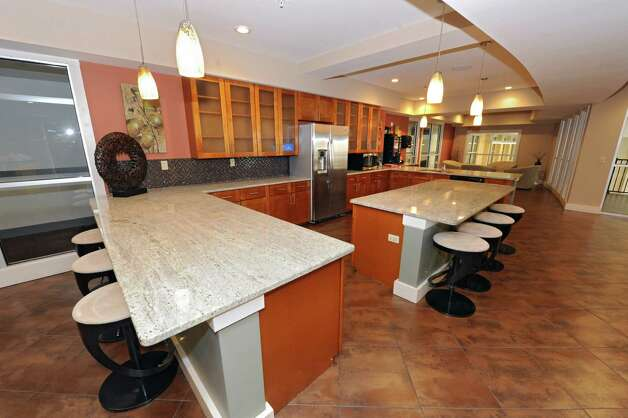 Clubhouse with kitchen for entertaining at The Alexander at Patroon Creek on Friday, April 10, 2015 in Albany, N.Y. (Lori Van Buren / Times Union) Photo: Lori Van Buren / 00031373A