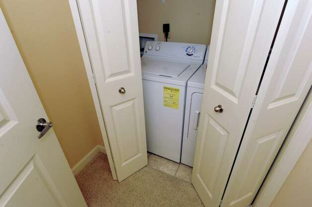 Washer and dryer in the model apartment in The Alexander at Patroon Creek on Friday, April 10, 2015 in Albany, N.Y. (Lori Van Buren / Times Union) Photo: Lori Van Buren / 00031373A
