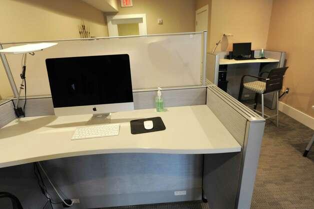 Computers in the business center in The Alexander at Patroon Creek on Friday, April 10, 2015 in Albany, N.Y. (Lori Van Buren / Times Union) Photo: Lori Van Buren / 00031373A