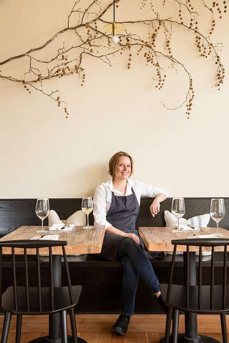 Melissa Perello in her new restaurant, Octavia, which opens in April 2015. Photo: Aubrie Pick