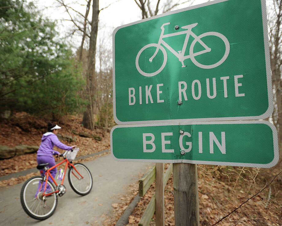 The Housatonic Valley Rail Trail in Trumbull, Conn. is a popular destination for walkers, runners, and cyclists on Tuesday, April 14, 2015. Photo: Brian A. Pounds / Connecticut Post