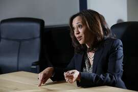 Attorney General Kamala Harris answers questions about her 2016 Senate run in San Francisco, Calif., on Thursday, April 16, 2015.