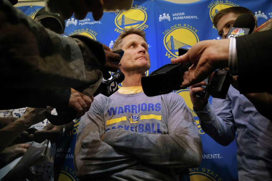 Could the success the Warriors enjoyed under Mark Jackson hurt Steve Kerr's chances of being Coach of the Year? Photo: Michael Macor / The Chronicle / ONLINE_YES